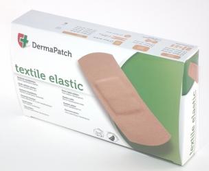 Textile elastic plasters