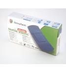Textile elastic detectable plasters